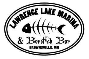 Lawrence Lake Marina NEW oval Logo 7 inch